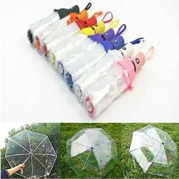 Automatic Open Close Umbrella Fold Windproof Compact Rain Tr