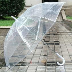 10X Transparent Clear Automatic Umbrella Parasol for Wedding