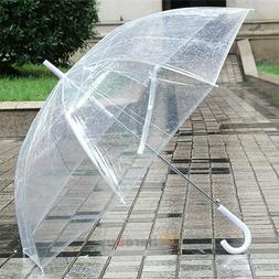Clear Umbrella Transparent Mushroom Weeding Party Parasol Po