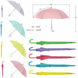 Transparent Clear Umbrella Long Handle Straight Stick Rain S
