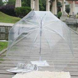 Transparent Stylish Clear Rain Umbrella Parasol Dome for Wed