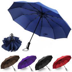 Travel Umbrella,10 Ribs Automatic Open/Close Compact Windpro