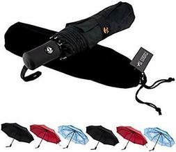 SY Compact Travel Umbrella Auto Open Close Windproof LightWe