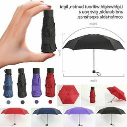 Super Mini Pocket Compact Umbrella Sun Anti UV 5 Folding Rai