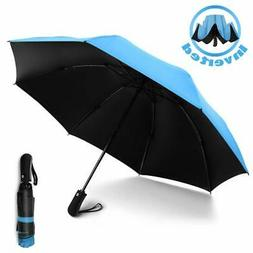 YRH Travel Umbrella,Reverse Automatic Umbrella,Portable Comp