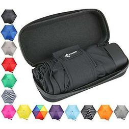 Travel Umbrella Small and Compact with Waterproof Case For W
