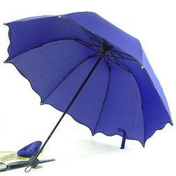 Tri-fold Folding Umbrella Windproof Anti UV Clear/Rain Korea