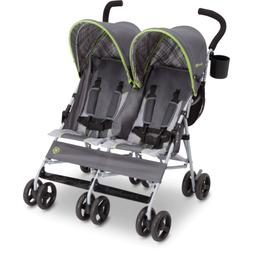 Twin Baby Double Stroller Umbrella Canopy Lightweight Reclin