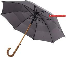 Uk Designed—Balios Prestige Walking Stick Umbrella—Bambo