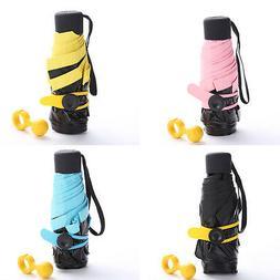 Ultralight Mini UV Sun Protection Folding Rain Portable Pock