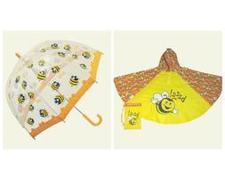 Umbrella & Poncho Raincoat Bugzz - Bee - Child sized Orange