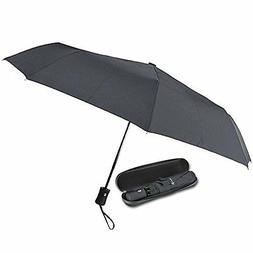 Vumos Umbrella, Blk Steel Auto Open/Close, Slip-Proof Rubber