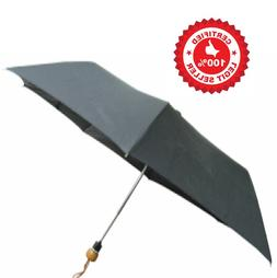 Conch Umbrella By Elite Corp.  Wood Handle Black Compact Ine
