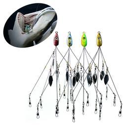Umbrella Fishing lure Rig 5 Arms Alabama Rig Head Swimming B