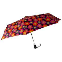 Totes Umbrella Flower Auto Open Large Rain Sun Travel Compac