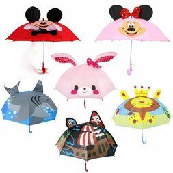 Umbrella for Kids Children Cute Windproof Folding Sun UV Rai