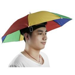 Umbrella Hat MultiColor Hands Free Umbrellas Golf Shade Lou