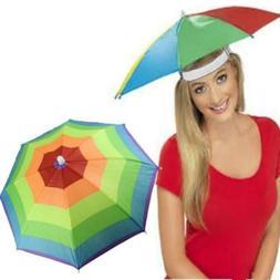 Umbrella Hat Rain Protection Elasticated Foldable Sun Shade