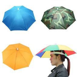Umbrella Hat Rain Raining Dry Cover Heat Adjustable Colorful