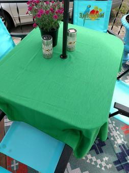 Umbrella hole ROUND 2 SIZES Dupioni texture polyester Tablec