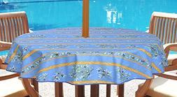 umbrella hole round tablecloth olives