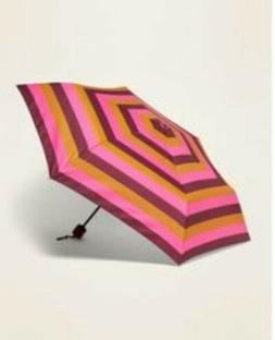 Old Navy Umbrella Multi-Color Stripes NWT ☔