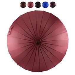 AmaGo Umbrella - 24 Steel Ribs for Rainstorm, Windproof, Wat