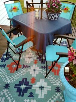"""Umbrella  patio tablecloth  45"""" easycare  fabric polyester 7"""