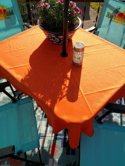 "Umbrella patio tablecloth  60"" round easycare  fabric polyes"