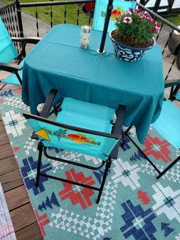 "Umbrella patio tablecloth  72"" round easycare  fabric polyes"