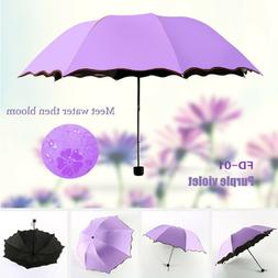 Umbrella Rain Protection Folding Windproof Parasol UV Shade