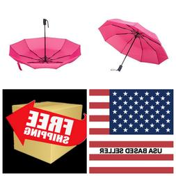 Rain-Mate Travel Umbrella Windproof Reinforced Canopy Ergono