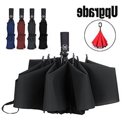 LANBRELLA Compact Travel Umbrella Windproof Auto Open Close