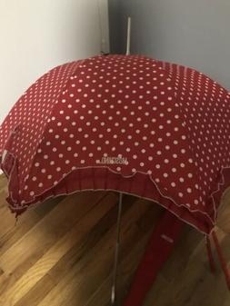 Umbrella MOSCHINO Boutique with fabric bag red polkadot
