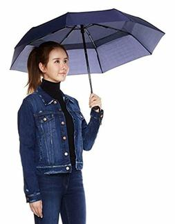 Umbrella with Wind Vent, Navy Blue, Full-size, Automatically