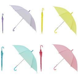 Umbrella Women Fashion Transparent Long Handle Windproof Cle