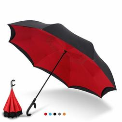 Umbrellas Reverse Windproof Large Auto Close Double Layer In