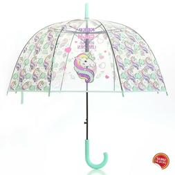 Unicorn Umbrella Kids Clear Small Girl Boy Magical Toddler R