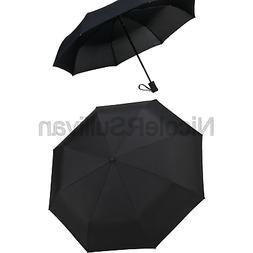 Crown Coast Travel Umbrella - 60 MPH Windproof Lightweight f