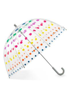 Totes Kids See Through Bubble Umbrella with Color Dots