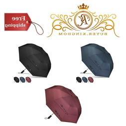 Unisex Umbrella Compact Golf 50 Inch Windproof Double Canopy