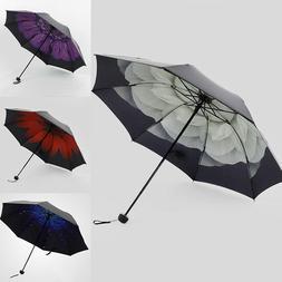 US STOCK Men Women Large Folding Rain Umbrella Anti-UV Windp