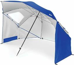 Vented SPF 50+ Sun and Rain Canopy Umbrella for Beach and Sp