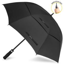 Vented Sun Umbrella Golf Umbrella Canopy Large 68 inch Autom