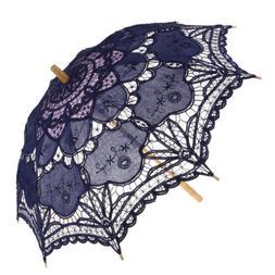 Vintage Lace Floral Umbrella Parasol for Wedding Bride Flowe
