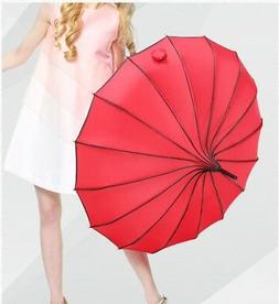Vintage Pagoda Parasol Sun/Rain Proof Umbrella Wedding Bride