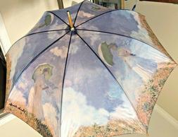 Vintage Salamander Umbrella Parasol 1995 Claude Monet Bamboo