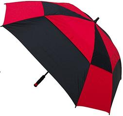 RainStoppers W075 Windbuster Square Golf Arc Umbrella with F