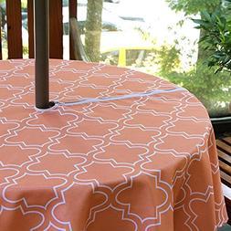 eforgift Water Repellent Stain Free Vibrant Orange Table Cov