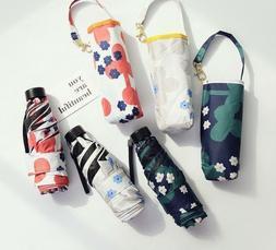 Waterproof Floral Sun Umbrella for Girls Folding Mini Pocket